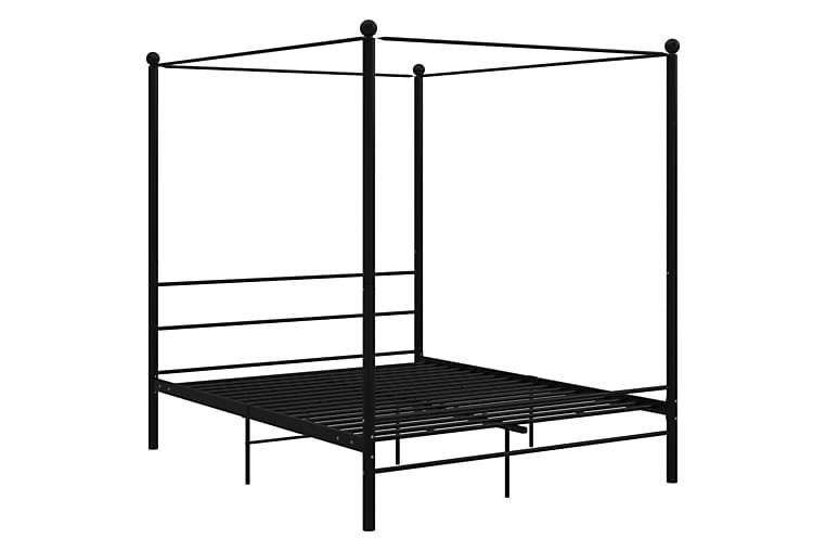 Himmelsengeramme svart metall 160x200 cm - Svart - Møbler - Senger - Sengeramme & sengestamme