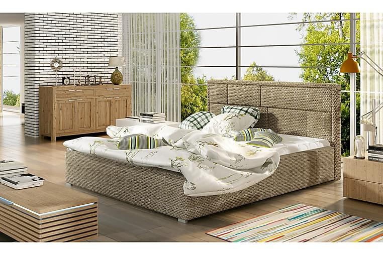 Sengeramme Barronki 140x200 cm - Beige - Møbler - Senger - Sengeramme & sengestamme