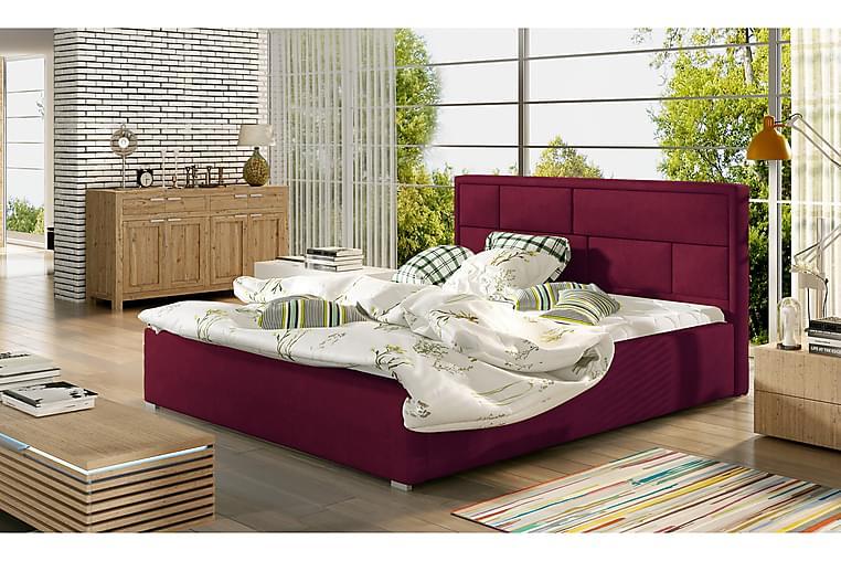 Sengeramme Barronki 140x200 cm - Rød - Møbler - Senger - Sengeramme & sengestamme
