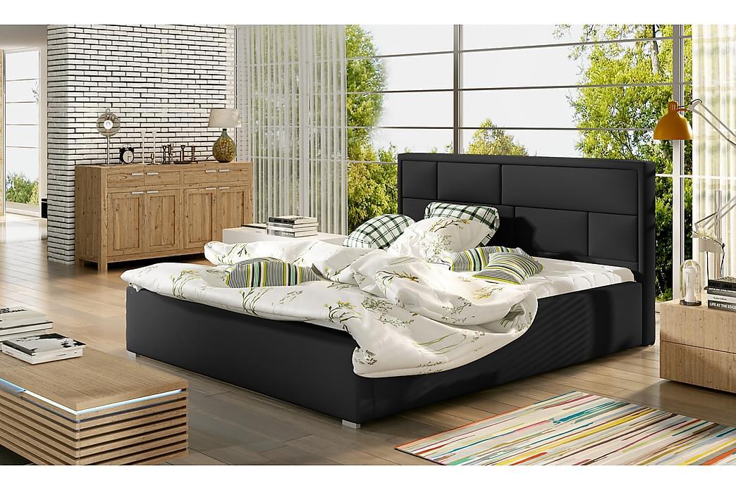 Sengeramme Barronki 160x200 cm - Svart - Møbler - Senger - Sengeramme & sengestamme