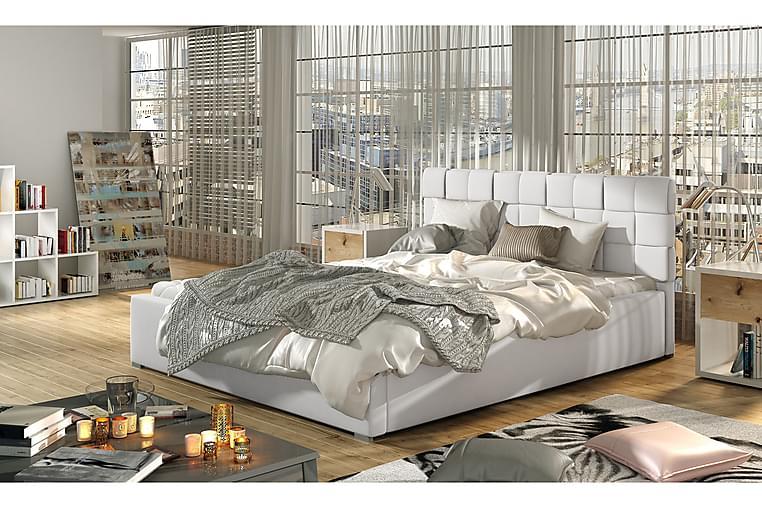 Sengeramme Brandee 200x200 cm - Hvit - Møbler - Senger - Sengeramme & sengestamme