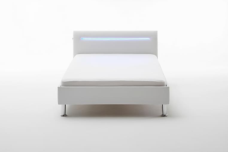 Sengeramme Camarles 120x200 cm - Hvit / Krom - Møbler - Senger - Sengeramme & sengestamme