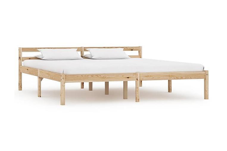 Sengeramme heltre furu 160x200 cm - Brun - Møbler - Senger - Sengeramme & sengestamme