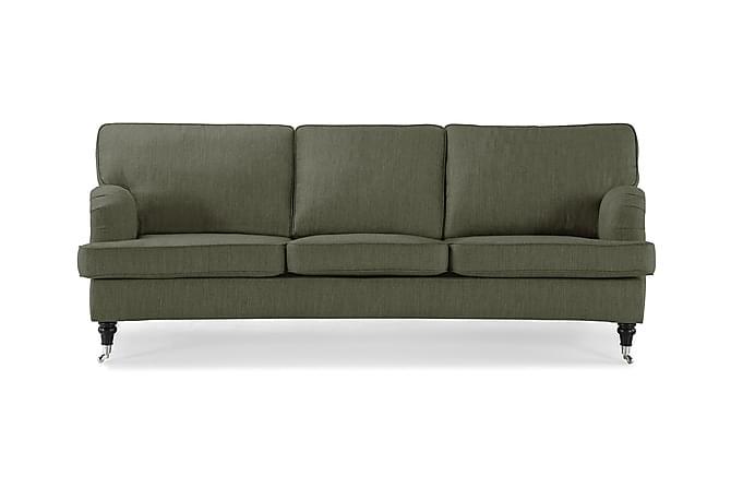Sofa Oxford Classic 3-seter Buet - Olivengrønn - Møbler - Sofaer - Howard-sofaer