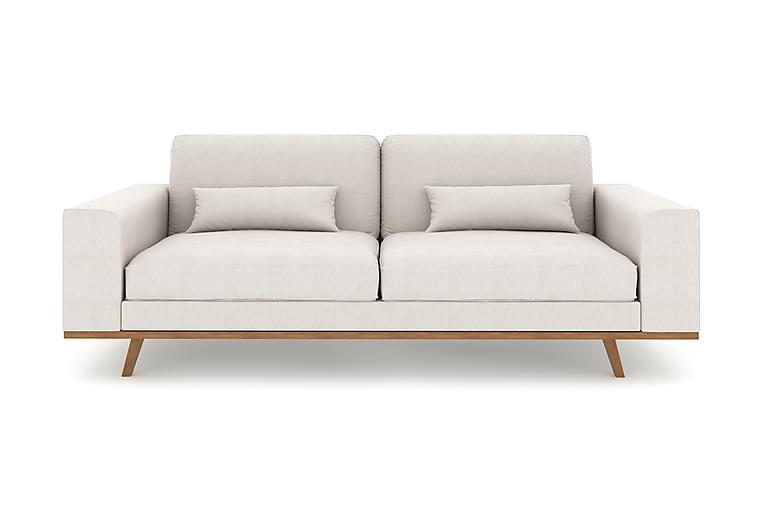 Sofa Haga 3-seter Lin - Beige - Møbler - Sofaer - 2-4-seters sofaer