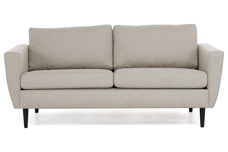 Sofa Hudson 3-seter - Beige Svart - Møbler - Sofaer - 2-4-seters sofaer
