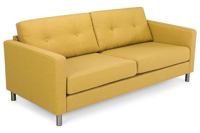 Sofa Tibet 3-seter - Gul - Møbler - Sofaer - 2-4-seters sofaer