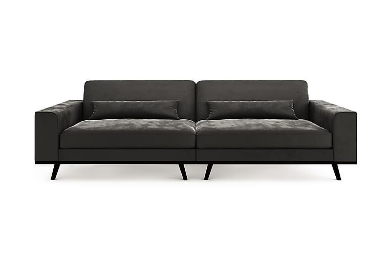 4-seter Haga Sofa Fløyel - Grå - Møbler - Sofaer - 2-4-seters sofaer