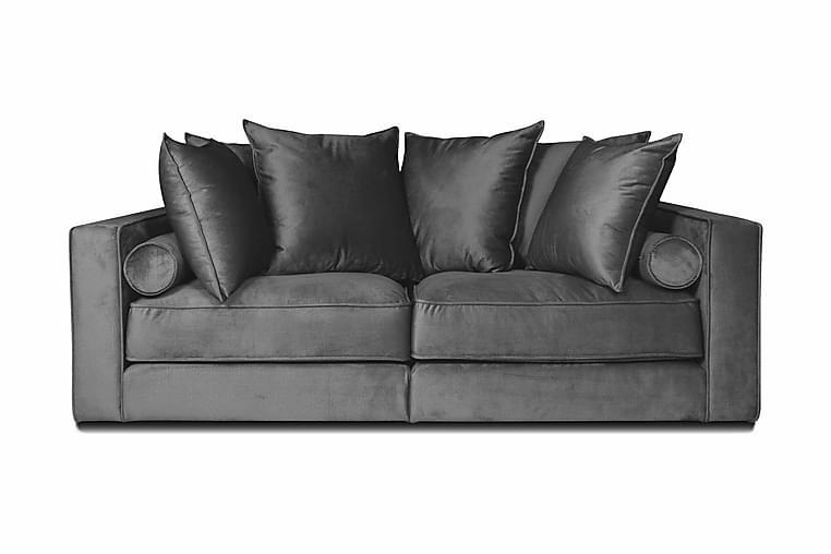 Fløyelssofa Ladywell 2-seter - Lysgrå - Møbler - Sofaer - 2-4-seters sofaer