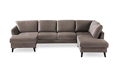 U-sofa Colt med Divan Venstre Fløyel