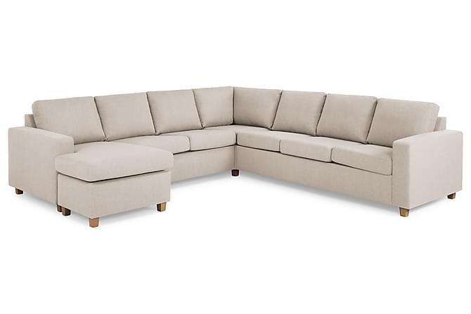 Hjørnesofa Nevada med Divan Large Venstre - Beige - Møbler - Sofaer - Sofaer med sjeselong & U-sofaer