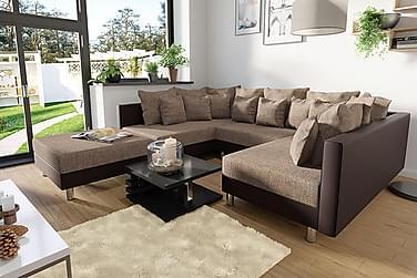 U-sofa & Puff Claudia
