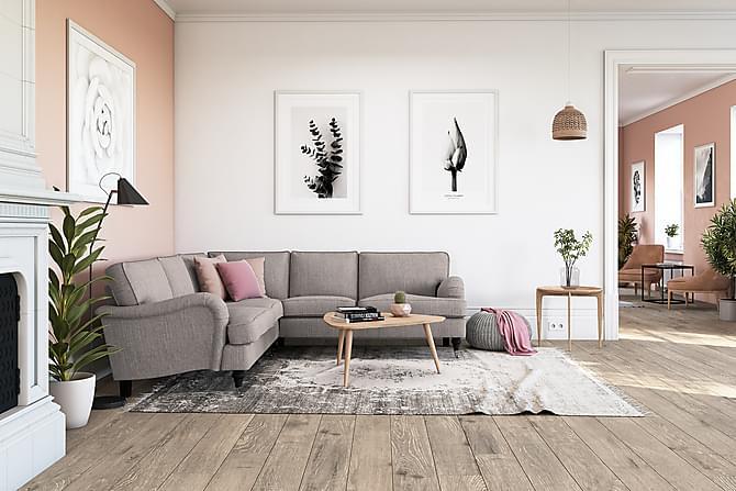 Hjørnesofa Oxford Classic - Grå/Brun - Møbler - Sofaer - Howard-sofaer