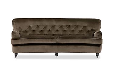 Sofa Highclere 3-seter Buet Fløyel