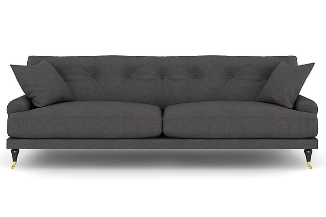 Sofa Webber 3-seter - Mørkgrå/Messing - Møbler - Sofaer - Howard-sofaer
