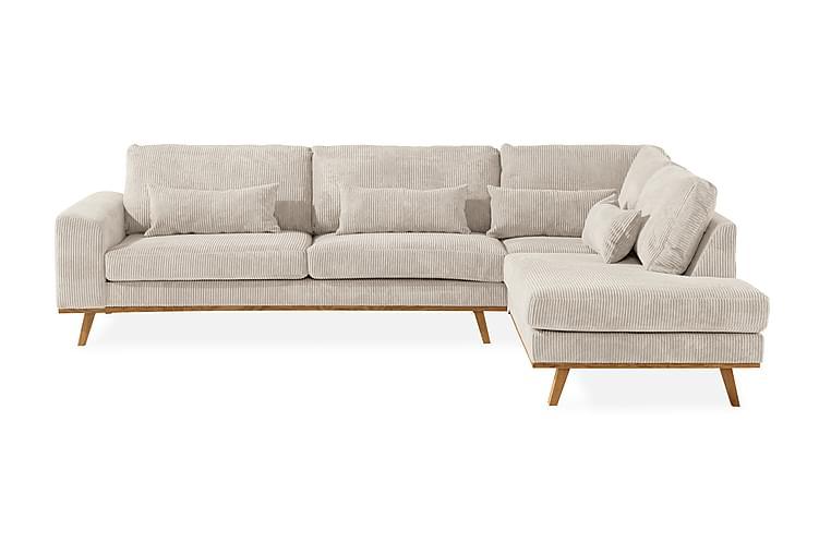 2,5-seter Sofa Haga Høyre Cordfløyel - Beige - Møbler - Sofaer - Sofaer med sjeselong & U-sofaer