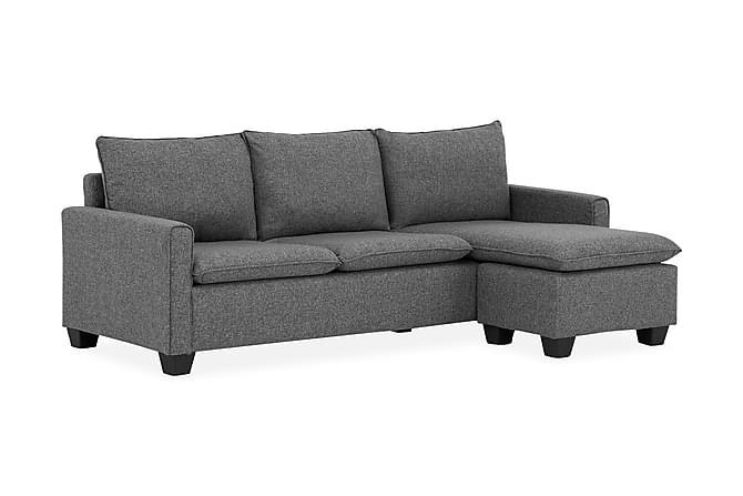 Divansofa Hewitt 3-seter Vendbar - Grå - Møbler - Sofaer - Sofaer med sjeselong & U-sofaer