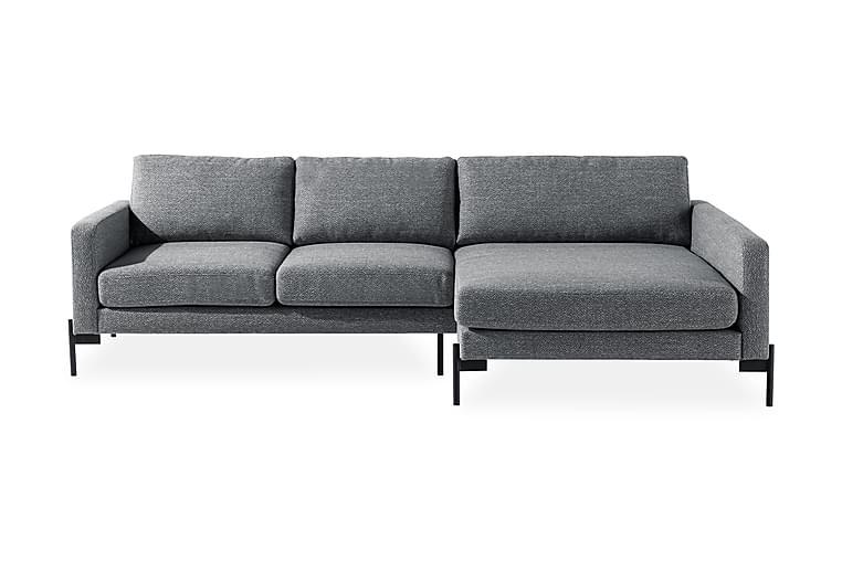 Divansofa Ljuvlig Høyre - Mørkegrå - Møbler - Sofaer - Sofaer med sjeselong & U-sofaer