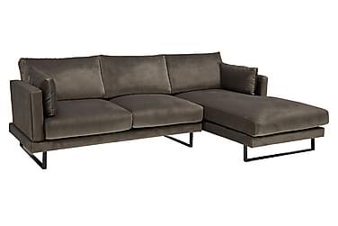 Sofa Galaxy 3-seter med Divan Høyre Fløyel