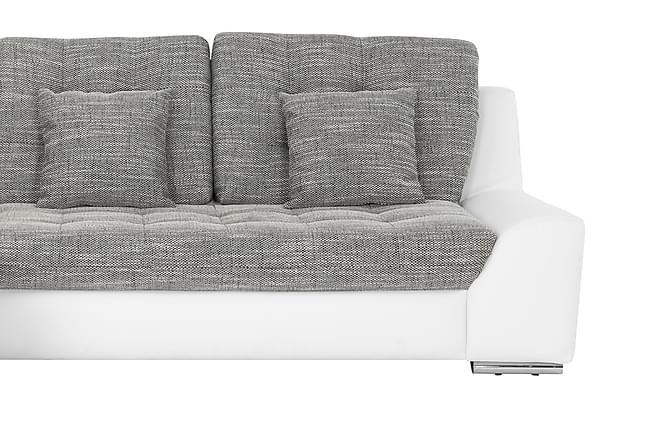 Sofa Gilpin 3-seter med Sjeselong Venstre - HHvit|Grå - Møbler - Sofaer - Sofaer med sjeselong & U-sofaer