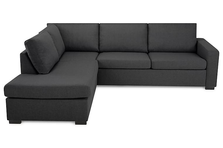 Sofa Nevada 2,5-seter med Sjeselong Venstre - Mørkgrå - Møbler - Sofaer - Sofaer med sjeselong & U-sofaer