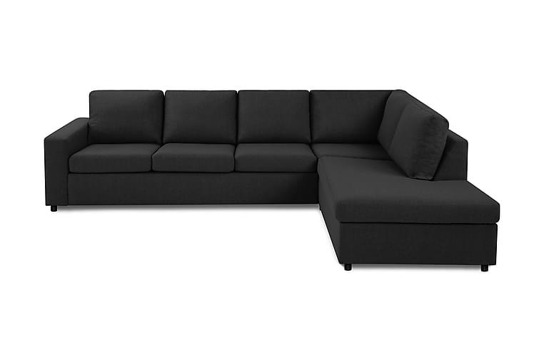 Sofa Nevada 3-seter med Sjeselong Høyre - Antrasitt - Møbler - Sofaer - Sofaer med sjeselong & U-sofaer
