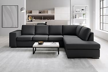 Sofa Sit Down 3-seter med Sjeselong Høyre Kunstlær
