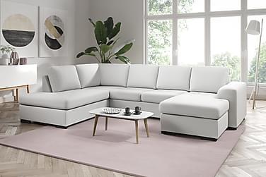 U-sofa Friday Lyx Large med Divan Høyre Kunstlær