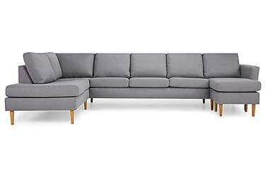 U-sofa Hudson Large med Divan Høyre
