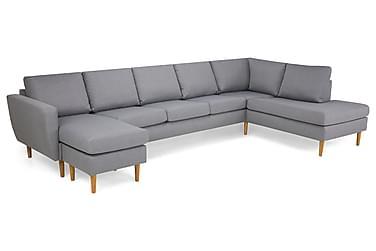 U-sofa Hudson Large med Divan Venstre