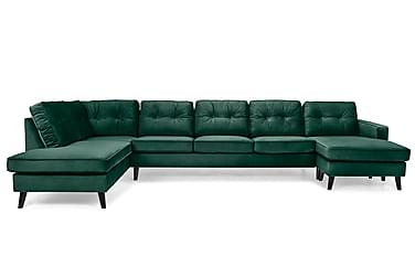 U-sofa Miller Large med Divan Høyre Fløyel