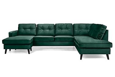 U-sofa Miller med Divan Venstre Fløyel