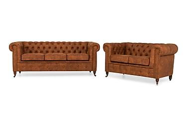 Sofagruppe Chester Deluxe 3-seter+2-seter
