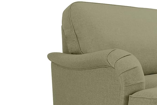 Sofagruppe Howard Oxford 3-seter+2-seter+Lenestol+Fotskammel - Grønn - Møbler - Sofaer - Sofagrupper