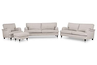 Sofagruppe Oxford Classic 3,5+3-seter+Lenestol+Fotskammel