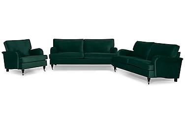 Sofagruppe Oxford Classic 3,5-seter+3-seter+Lenestol Fløyel