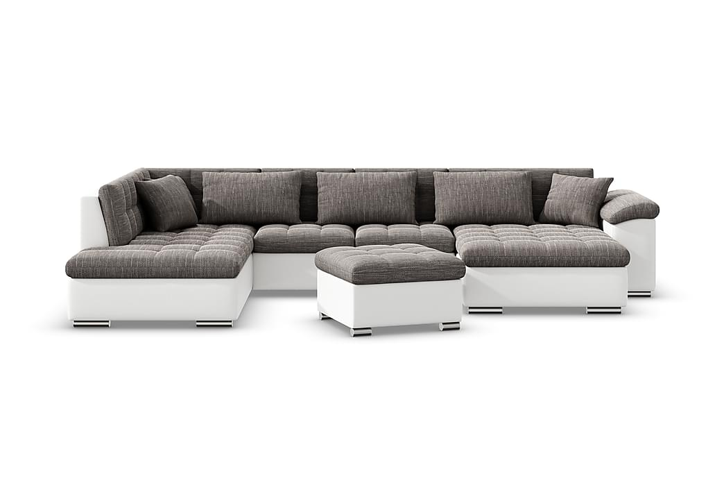 Sofagruppe Niko - Beige / Grå - Møbler - Sofaer - Sofagrupper