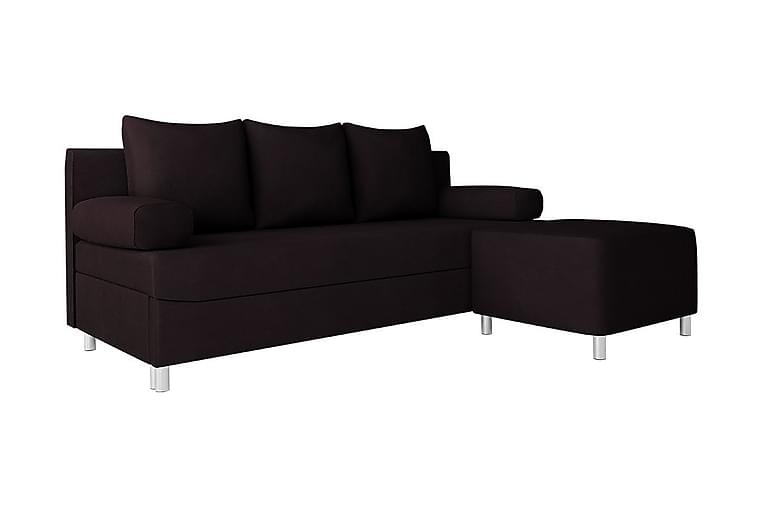 Sofa Rejmyre med Puff - Svart - Møbler - Sofaer - Sovesofaer