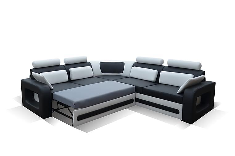 Sofagruppe Toyana - Grå|Svart - Møbler - Sofaer - Sovesofaer