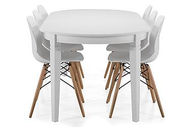 Spisebord Lowisa med 6 Laurent stoler