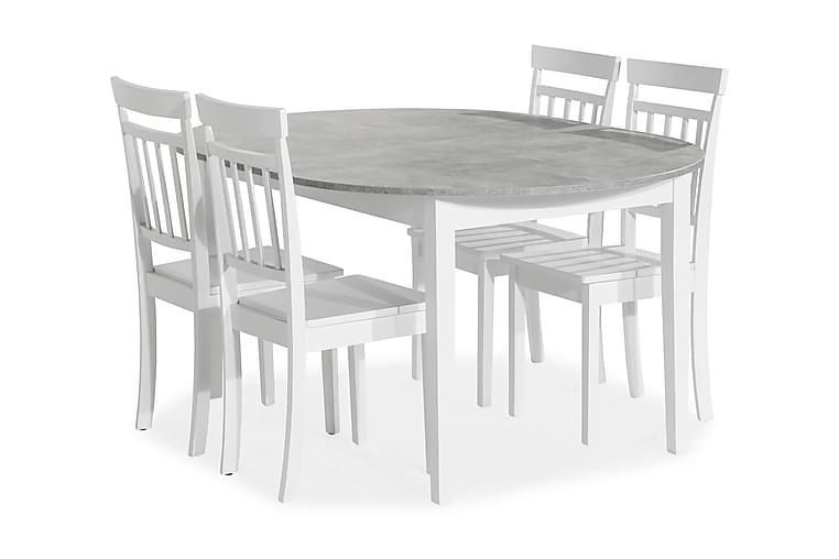 Spisegruppe Montague  115 cm m 4 Catskill Stol - Møbler - Spisegrupper - Oval spisegruppe