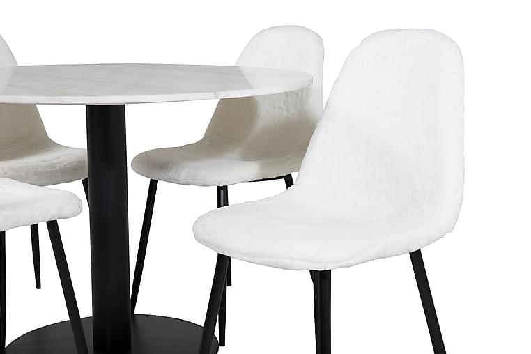 Spisebord Admira 106 cm med 4 Ypas Spisestoler - Møbler - Spisegrupper - Rektangulær spisegruppe