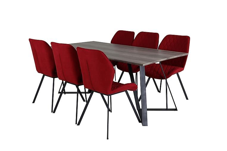 Spisebord Malvina 180 cm med 6 Sumoas Spisestoler - Møbler - Spisegrupper - Rektangulær spisegruppe