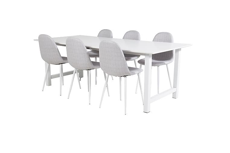 Spisebord Naomi med 6 Ypas Spisestoler - Møbler - Spisegrupper - Rektangulær spisegruppe