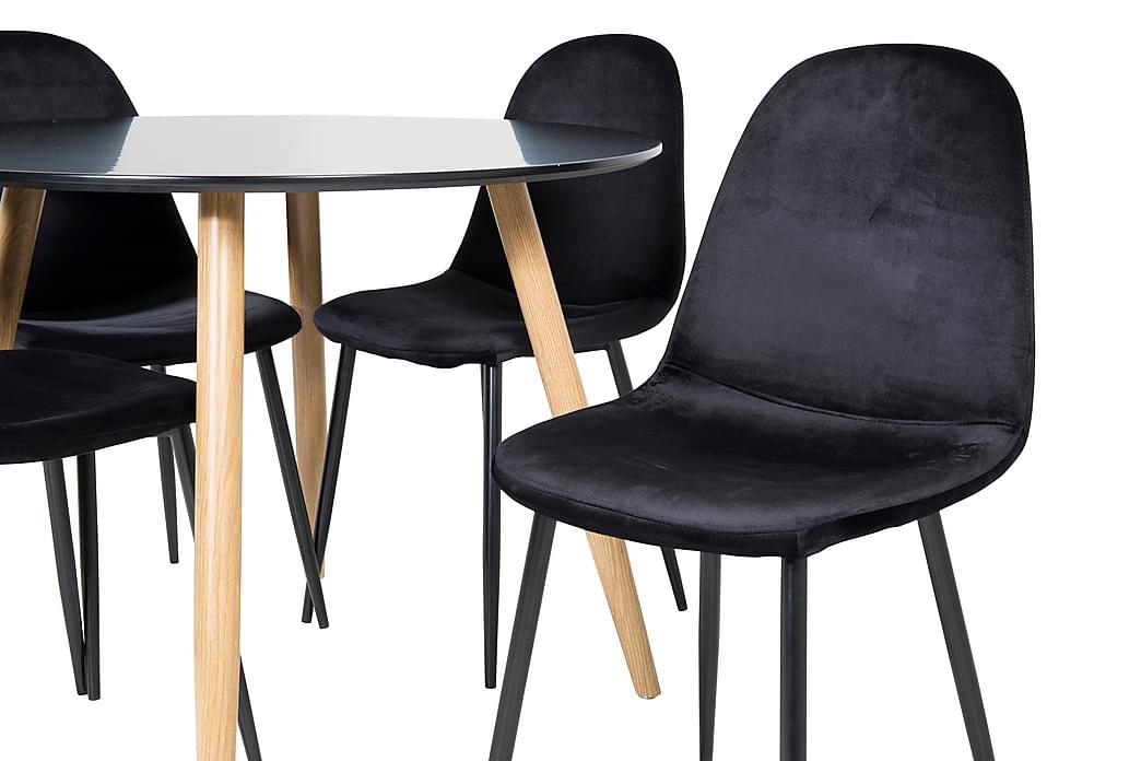 Spisebord Pelle 100 cm Rund med 4 Pontus Kjøkkenstoler - Møbler - Spisegrupper - Rektangulær spisegruppe