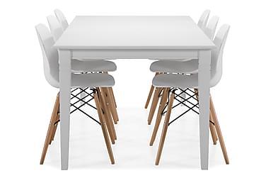Spisebord Twain med 6 Laurent stoler