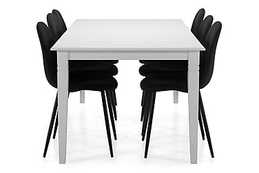Spisebord Twain med 6 Naira stoler