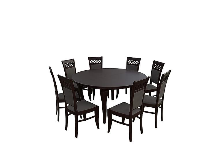 Spisegruppe Laukas - Valnøtt - Møbler - Spisegrupper - Rektangulær spisegruppe