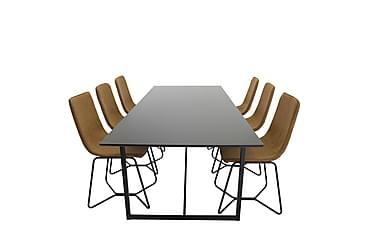 Spisegruppe Sanvil 240 cm med 6 Theresa Stoler