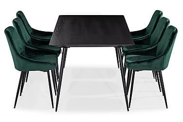 Spisegruppe Steph 180 cm med 6 Bergviken Kjøkkenstoler